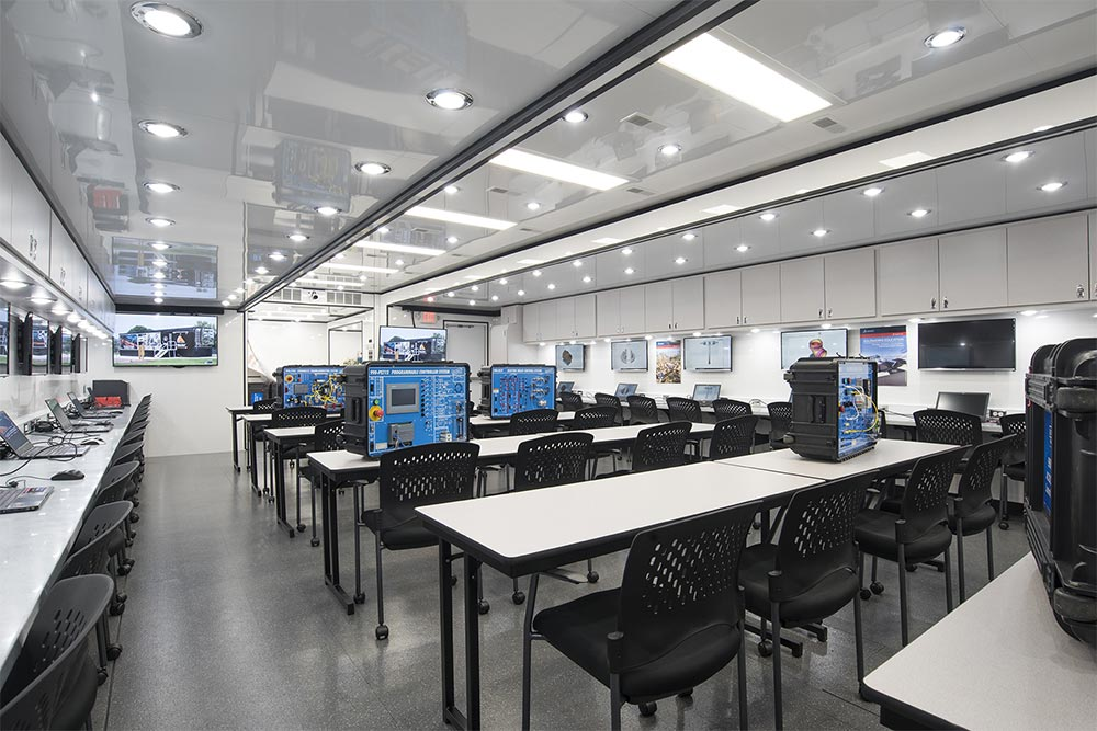 The lab expands into a 900 square foot classroom