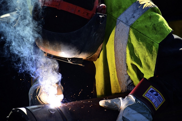 Grants benefit employers by training workers like this welder