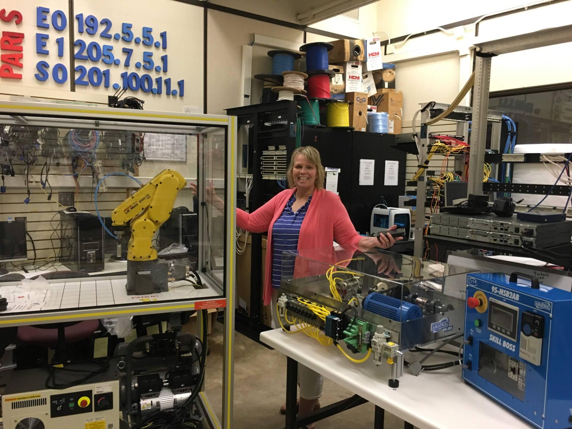 ISD 917, FANUC robotics, and Amatrol Skill Boss