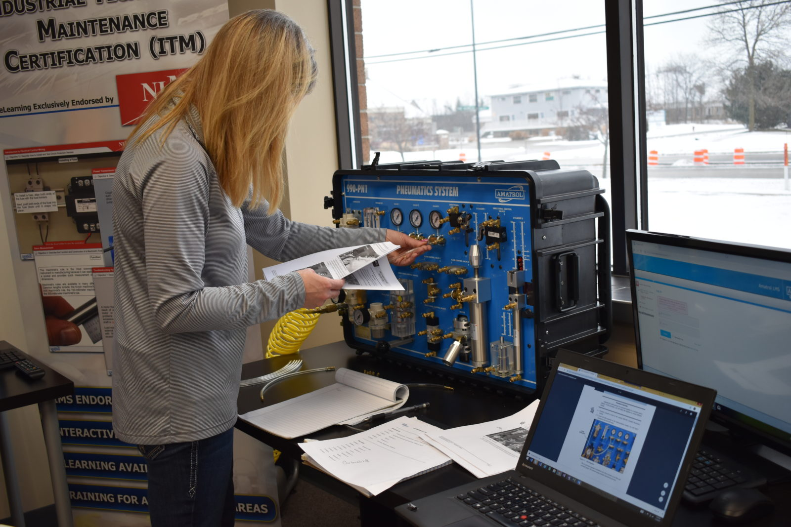 Amatrol portable trainers prepare students and employees for every competency in manufacturing