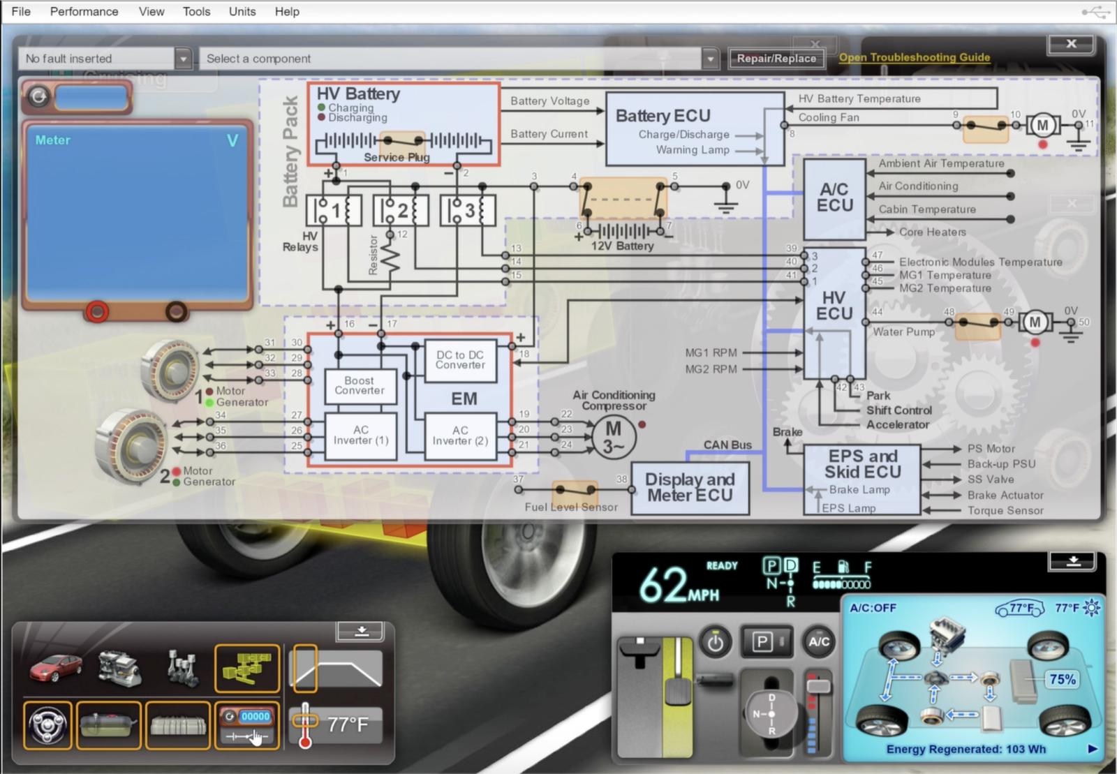 LJ Create Hybrid vehicle virtual trainer